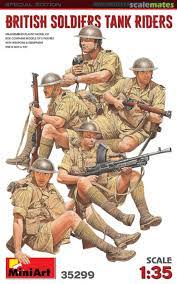 1/35 British Soldiers Tank Riders. Special Edition