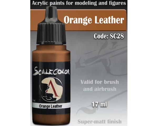 SCALE75 COLOR: ORANGE LEATHER - colore acrilico vinilico ad acqua da 17ml