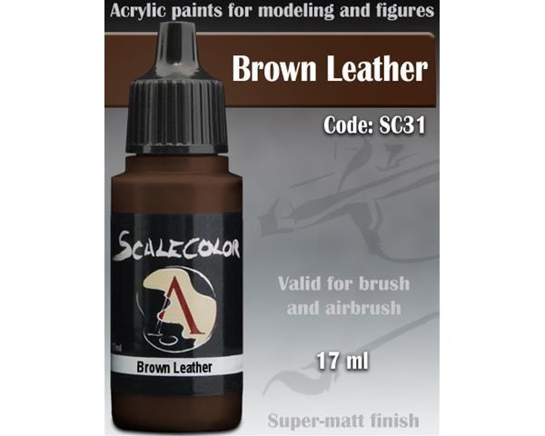 SCALE75 COLOR: BROWN LEATHER - colore acrilico vinilico ad acqua da 17ml
