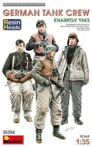1/35 German Tank Crew. Kharkov 1943. Resin Heads