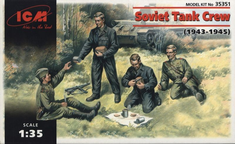 1/35 Soviet Tank Crew (1943-1945) (4 figures - 2 officers