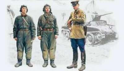 1/35 Soviet Tank Crew (1939-1942) (3 figures - 1 officer