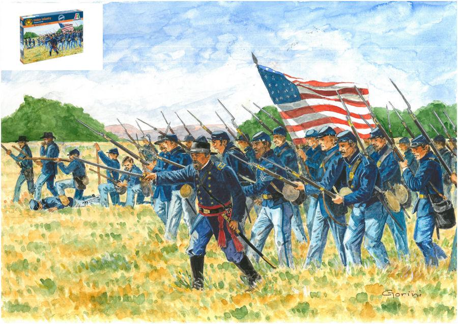 1/72 Union Infantry American Civil War