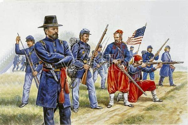 1/72 Union Infantry and Zouaves American Civil War