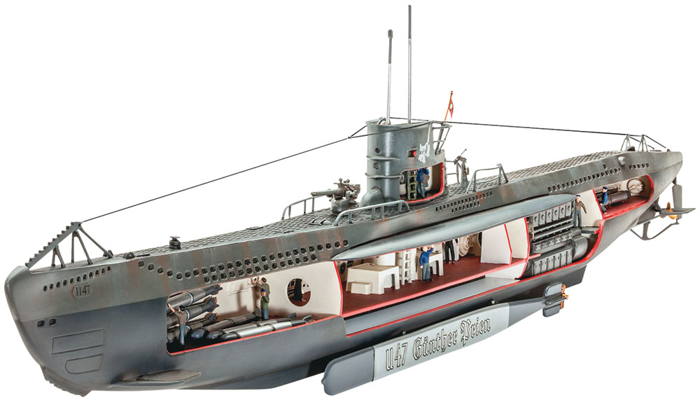 1/125 U-47 WITH INTERIOR