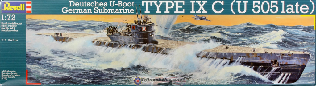 1/72 TYPE IX C (U 505 LATE) GERMAN SUBARUNE