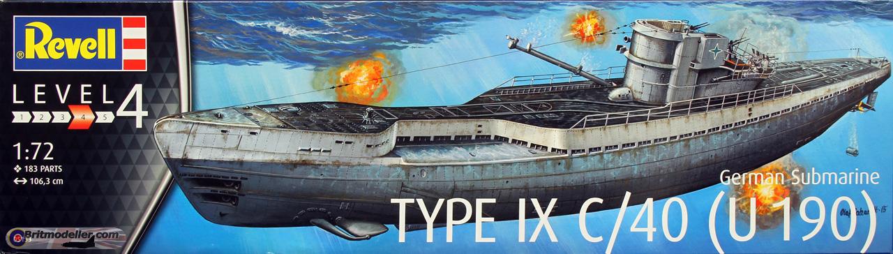 1/72 SUBMARINE IX C/40 U 190